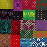 Alison Glass HANDCRAFTED PATCHWORK BATIKS Andover Fat Quarters 18 Precut Cotton Fabric Quilting FQs Assortment