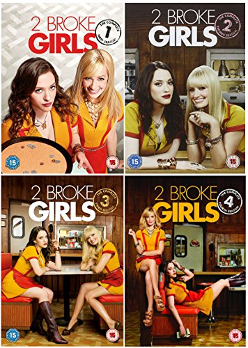 2 Broke Girls 1-4 Complete DVD Collection - Seasons 1, 2, 3 and 4 And Exclusive Extras + Bonus Features + Unaired scenes