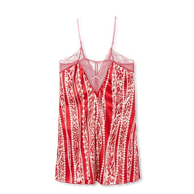Señora leopardo pijamas La perla correa cortav condujo un camisón: Amazon.es: Ropa y accesorios