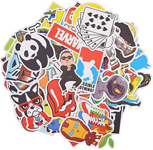 Beslime Aufkleber Pack 100pcs Graffiti Aufkleber Pack Vinyl Stickers Für Auto Skateboard Koffer Motorräder Fahrräder Boote Laptop Snowboard Gepäck Wasserdicht Vinyl Aufkleber Auto