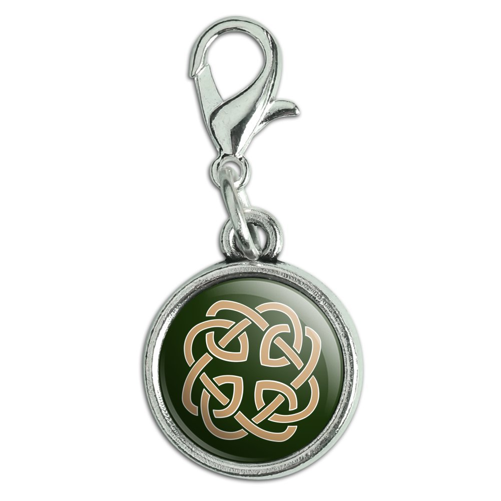 GRAPHICS /& MORE Celtic Knot Love Eternity Antiqued Bracelet Pendant Zipper Pull Charm with Lobster Clasp