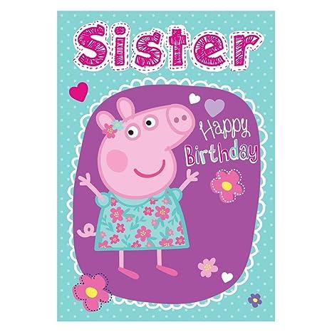 Nuevo Peppa Pig hermana Tarjeta de cumpleaños: Amazon.es: Hogar