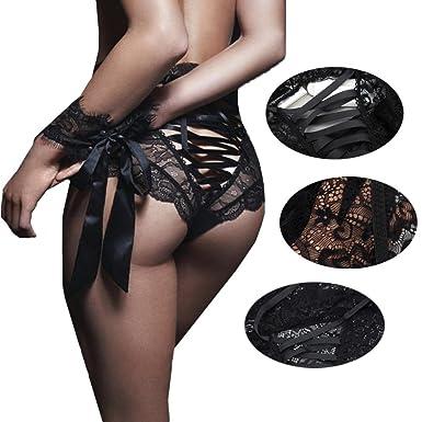 Amazon.com  Wesracia Women s Sexy Lingerie Lace Bandage Seductive ... 63233ec49
