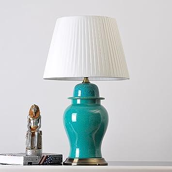 Table lamp Jack Mall Lámpara de cerámica Moderna de la lámpara del Dormitorio de la lámpara ...