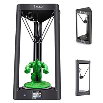 FLSUN Impresora Delta 3D premontada con tamaño de impresión φ260X370 Nivelación automática Pantalla táctil WIFI Control remoto Cama calefactada ...