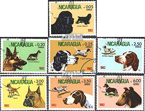 Nicaragua 2246-2252 (Complete.Issue.) 1982 Dogs (Stamps for Collectors) Dogs