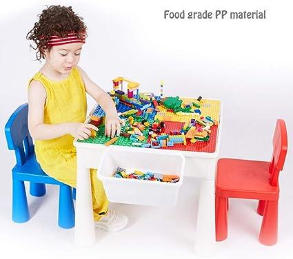 HZL 3 in 1 Set Tavolino multifunzione e sedie Bambini Tavolo