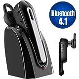 iitrust Bluetooth イヤホン 片耳 V4.1 両耳兼用 マグネット式の充電台付き 二つ電力供給方法 Bluetooth ヘッドセット片耳ミニ型 日本語説明書付き1.5H急速充電 6H程継続通話 超軽量 超小型ボディ片耳イヤホン bluetooth 通話も、音楽も楽しめる ワイヤレス イヤホン 片耳 C17 技適認証済み iitrust正規代理品