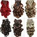 """PRETTYSHOP XL SET 7pcs Full Head 24"""" Clip In Hair Extensions Hairpiece Curled Heat-Resisting"""