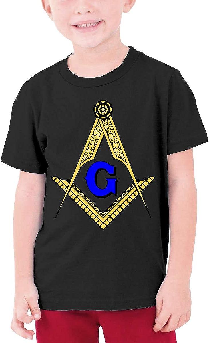 EROTEN Freemason Masonic Cotton Youth T Shirts Short Sleeve for Teenager Boys Girls