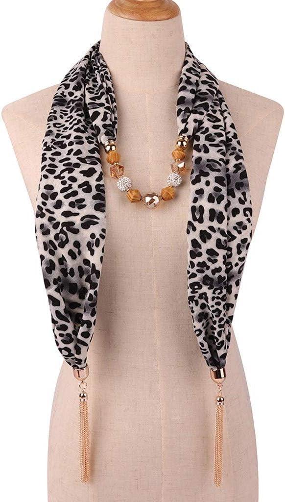Chain Necklace Decoration Bib Big Leopard Snake Skin Women Shawl Scarf Collar