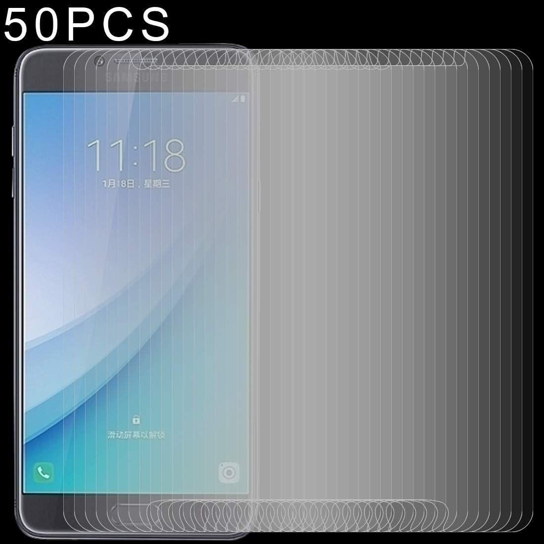 Pokjsofjnjlfkl Phone Accessories 50 PCS 0.26mm 9H 2.5D Tempered Glass Film for Galaxy C7 Pro Screen Protectors for Phone
