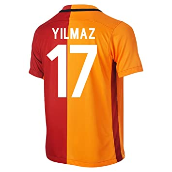 Nike 2015-2016 Galatasaray Home Football Shirt Yilmaz 17 Talla:Large 42-44""