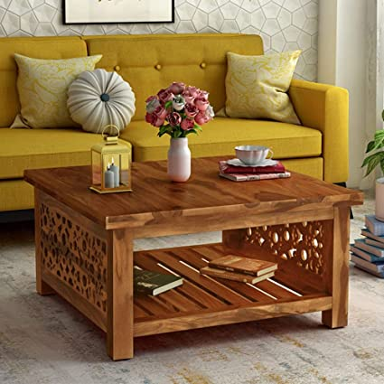 Km Decor Sheesham Wood Centre Table For Living Room Coffee Table In Natural Amazon In Home Kitchen