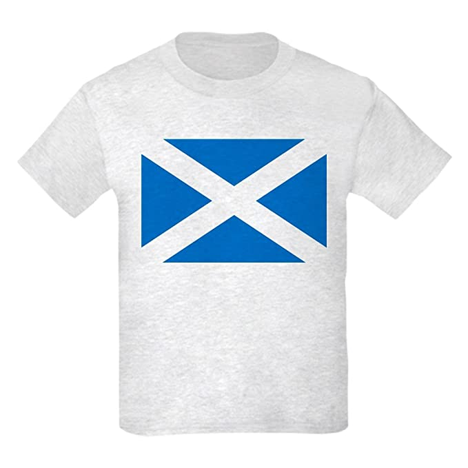6469b000 CafePress - Scotland - St Andrews Cross - Kids T-Shirt - Kids Cotton T