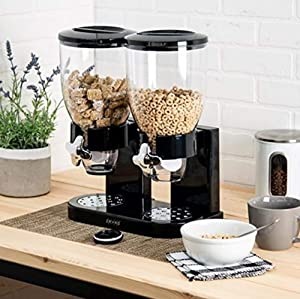 Dual Dry Compact Food Nut Cereal Candy Dispenser