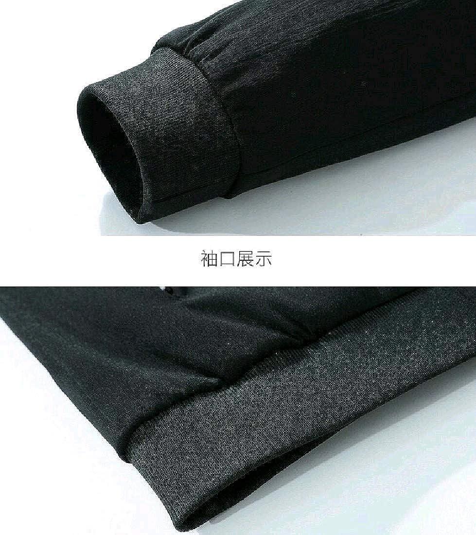 Abetteric Men Bomber Windproof Warm Plus Size Parka Jacket Coat Outwear