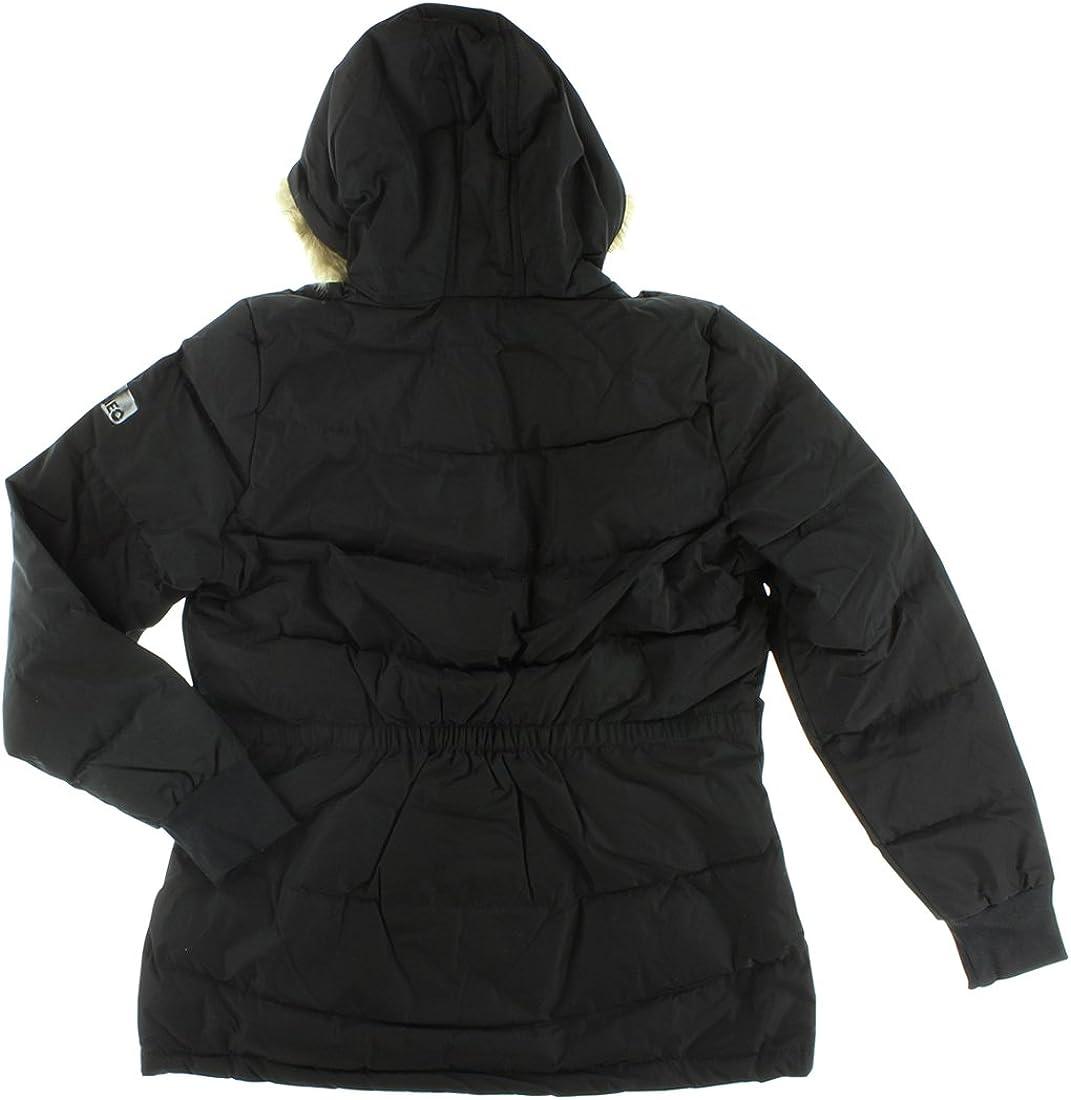 : adidas Womens Long Down Coat Black M32614 (Small