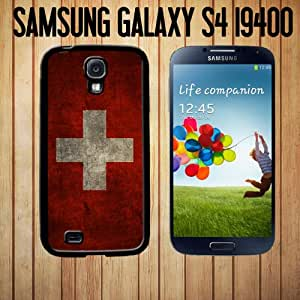 Vintage Swiss Flag Custom made Case/Cover/skin FOR Samsung Galaxy S4 - Black - Rubber Case