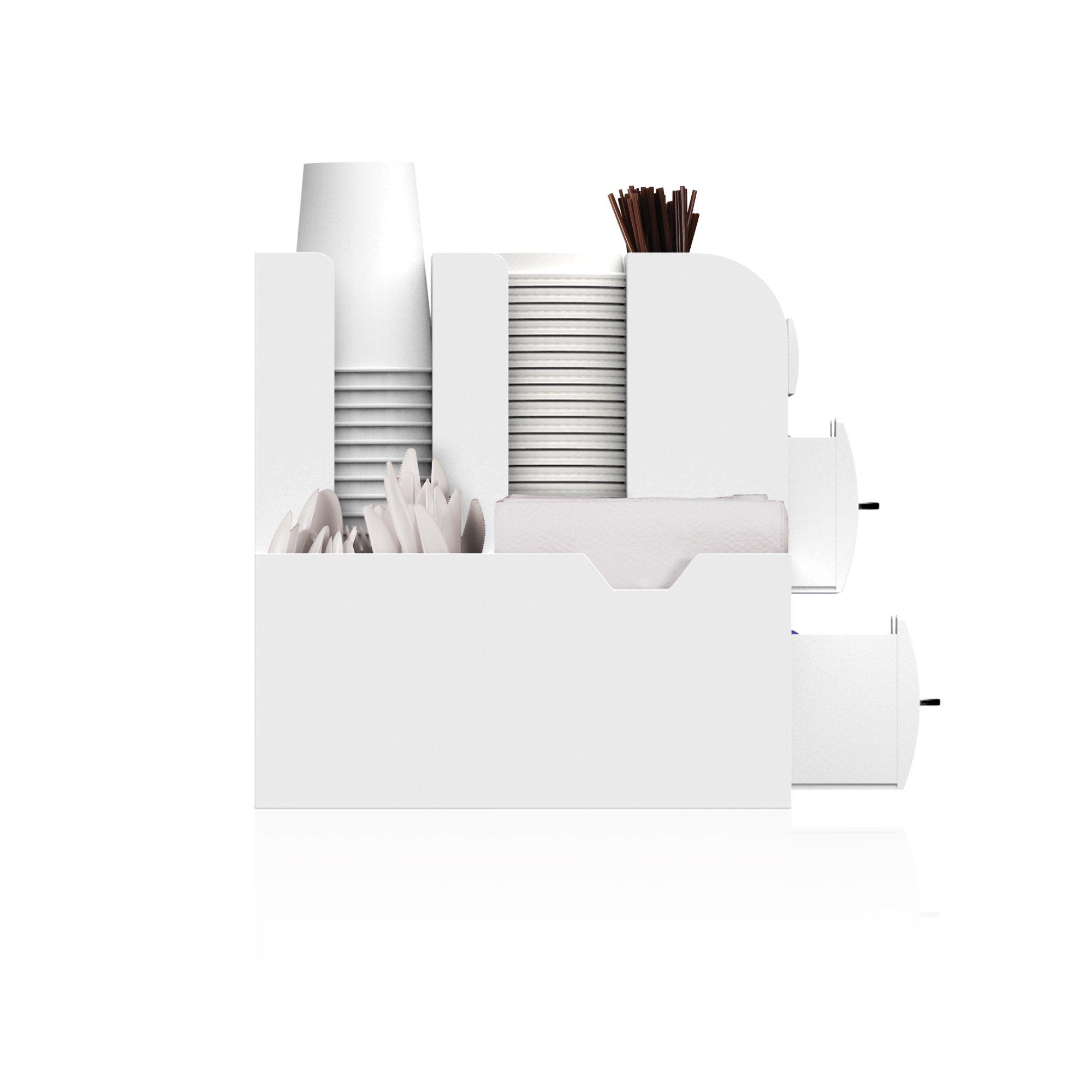 Mind Reader Coffee Condiment Organizer- White, by Mind Reader (Image #3)