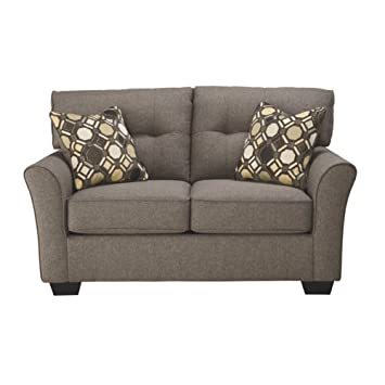 Ashley Furniture Signature Design - Tibbee Contemporary Upholstered Loveseat - Slate