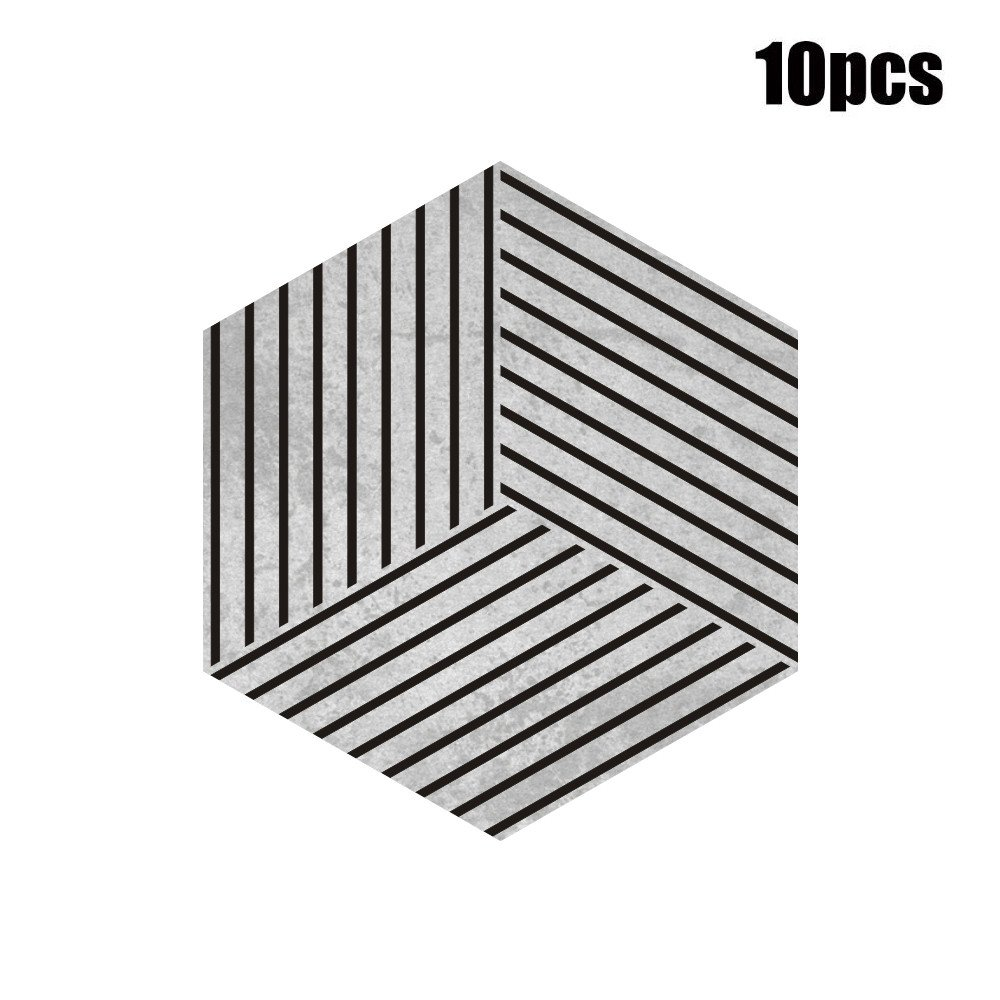 Overmal Clearance 10Pcs Self Adhesive Tile Floor Wall Decal Sticker DIY Kitchen Bathroom Decor