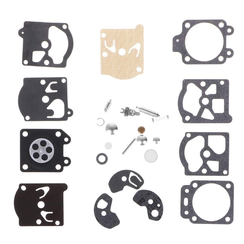 Runrain Kit de r/éparation de Joint de Membrane de carburateur de carburateur pour Walbro‿Series K10-WAT