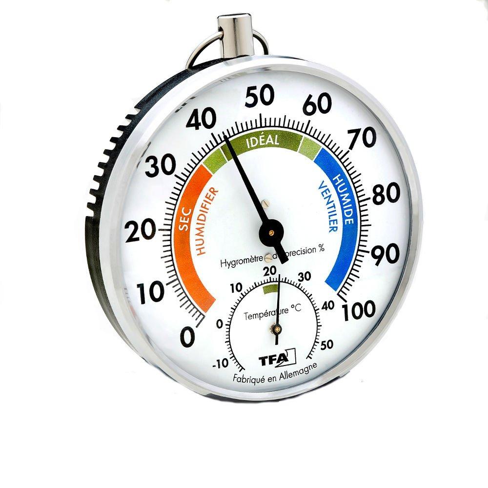con multicolore francese didascalia 45.2027 TFA Dostmann Termometro Igrometro