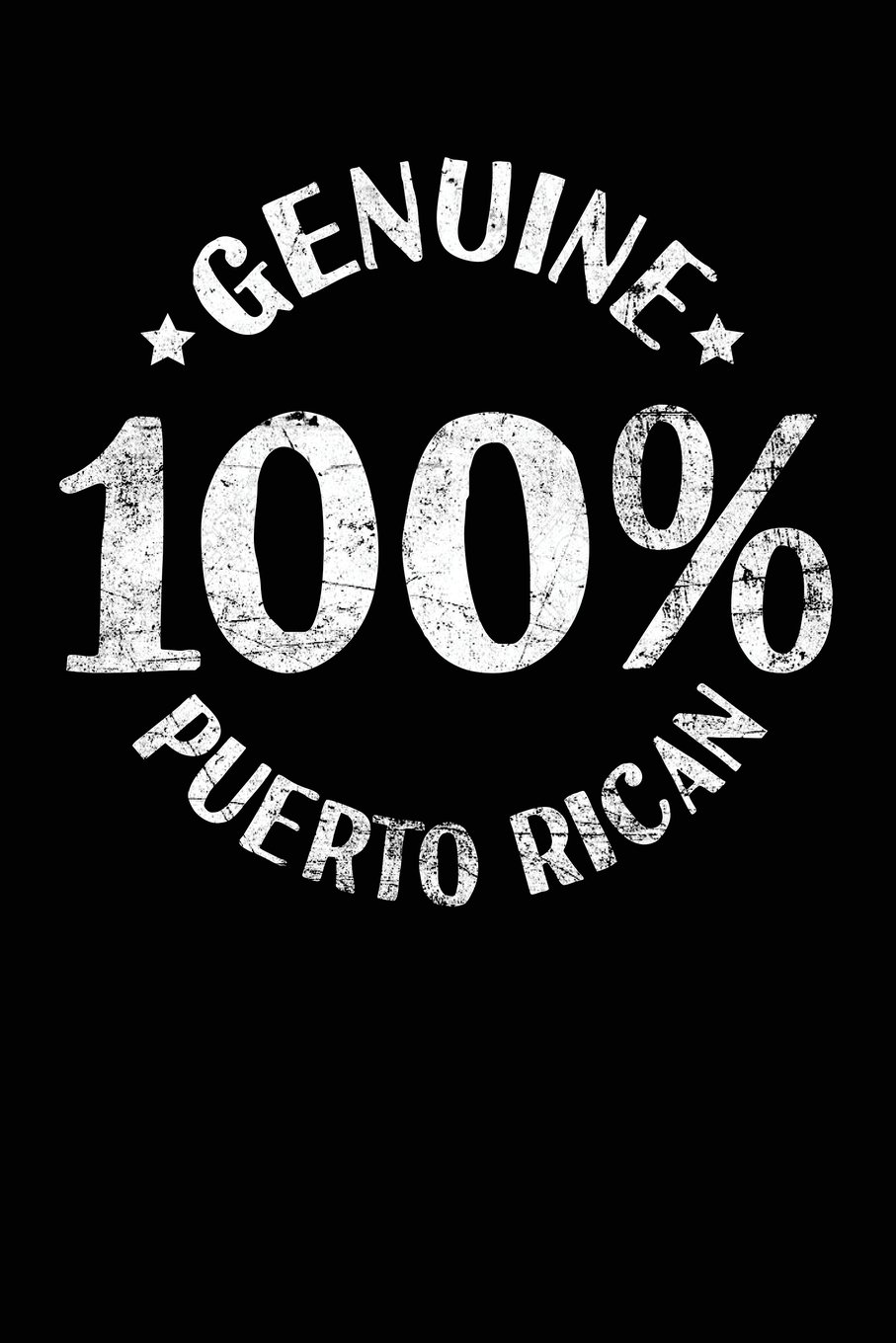 Read Online Genuine 100% Puerto Rican: Lined Travel Journal Notebook Diary PDF