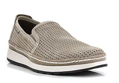 b2302a0f858 Mephisto Hadrian Perf Slip-On Man Loafers with Removable Footbed Sportbuck  1932 Sand Size
