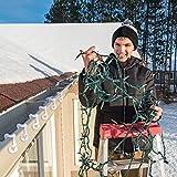 URATOT 240 Pieces Christmas Light Clips Plastic