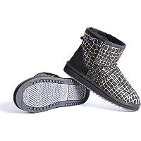 NOCK UGG Womens Ladies Classic Glitter UGG Boot Water Resistant Premium Australian Sheepskin Wool Insole Green,Grey…