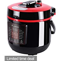 Aobosi Pressure Cooker 6Qt 8-in-1 Electric Multi-cooker,Rice Cooker,Slow Cooker,Sauté,Yogurt Maker,Steamer  6 Pressure Levels  Auto & Manual Release System  Cook 2 Dishes at Once  Helpful Accessories