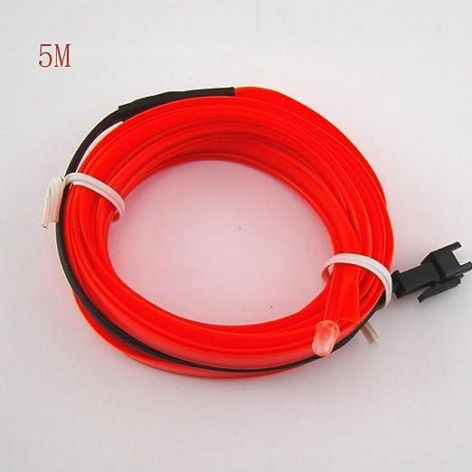 1 opinioni per HopeU5® 5M auto 12V LED luci fredde flessibile neon EL filo lampade auto su auto