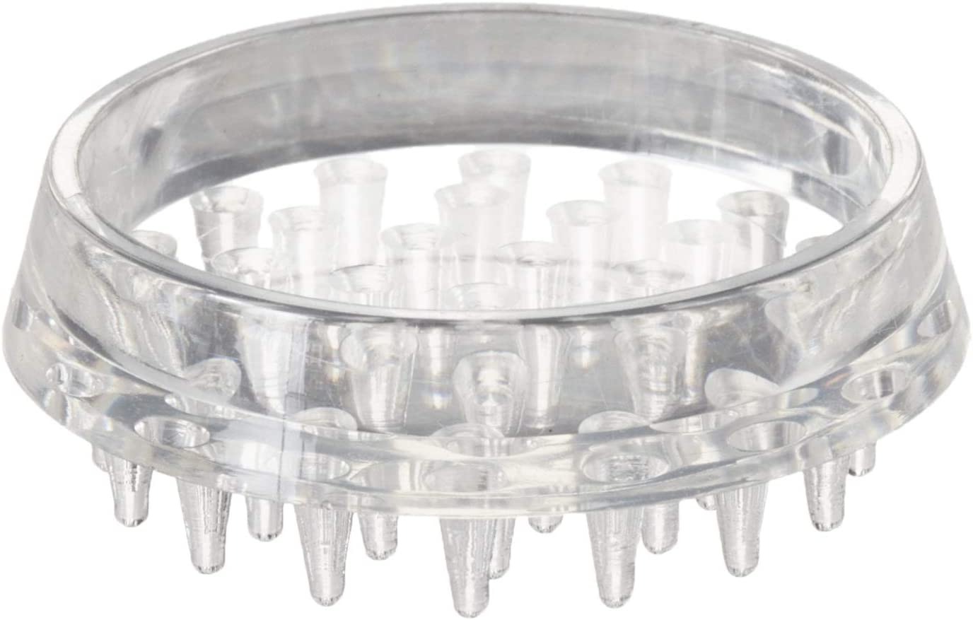 Shepherd Hardware 9081 1-1/2-Inch Spiked Furniture Cup, Clear Plastic, 4-Pack