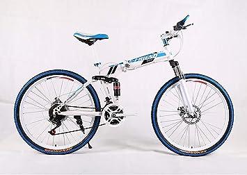 kaituo Ruedas Doble Suspensión Bicicleta Plegable,Bicicleta ...