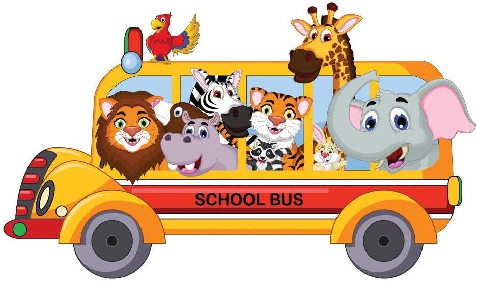 Animal School Bus Wall Sticker WS-44906