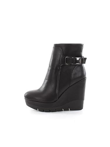 CAF NOIR GC928 zapatos negro mujeres de alto talón de cuña ...