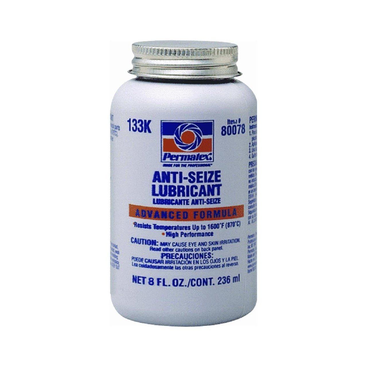 Permatex 80078 Anti-Seize Lubricant with Brush Top Bottle, 8 oz., Pack of 2 by Permatex