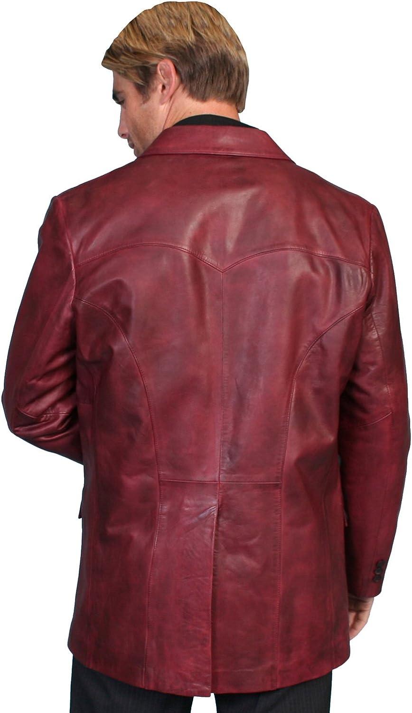 Scully Mens Lamb Leather Blazer Tall Black Cherry 42 LNG