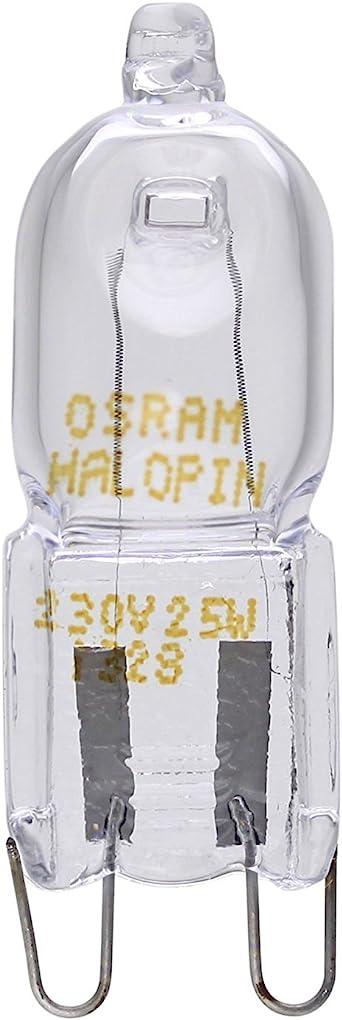 2X OSRAM Four Halopin 25 W G9 Halogène Capsule Ampoule 230 //// 240 V