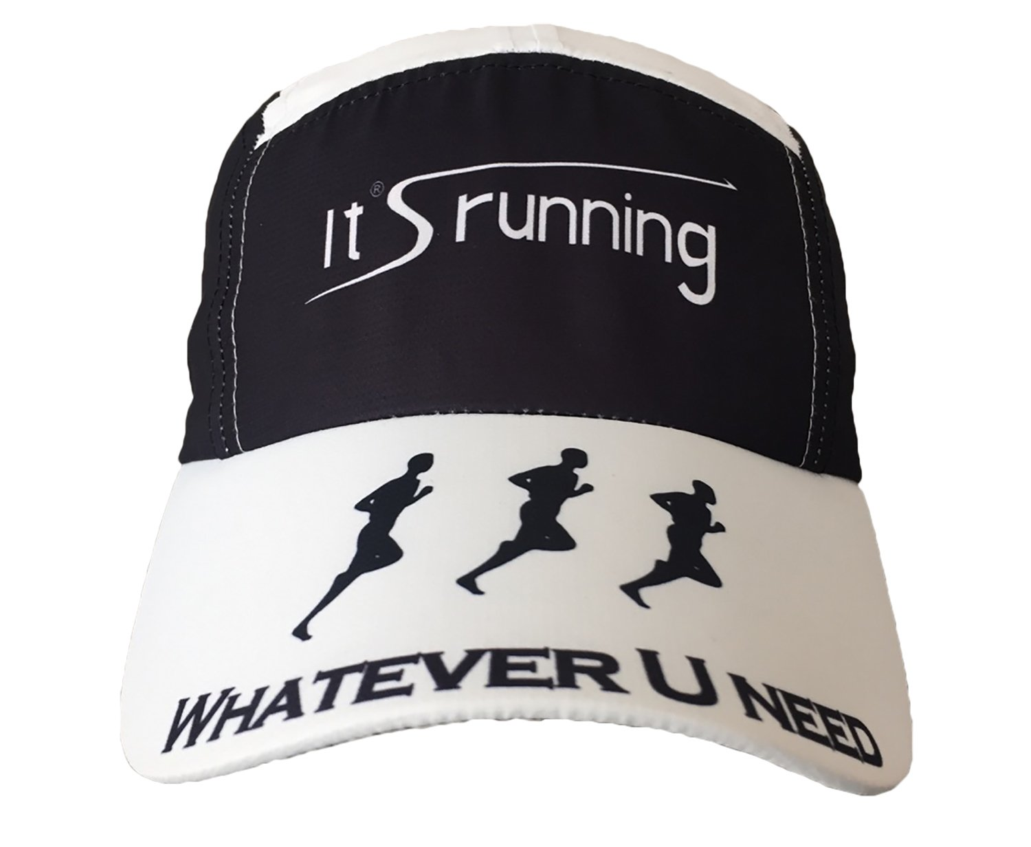 Headsweats Race Hat Special It's running Running Cap, Black/White One Size HSWRS