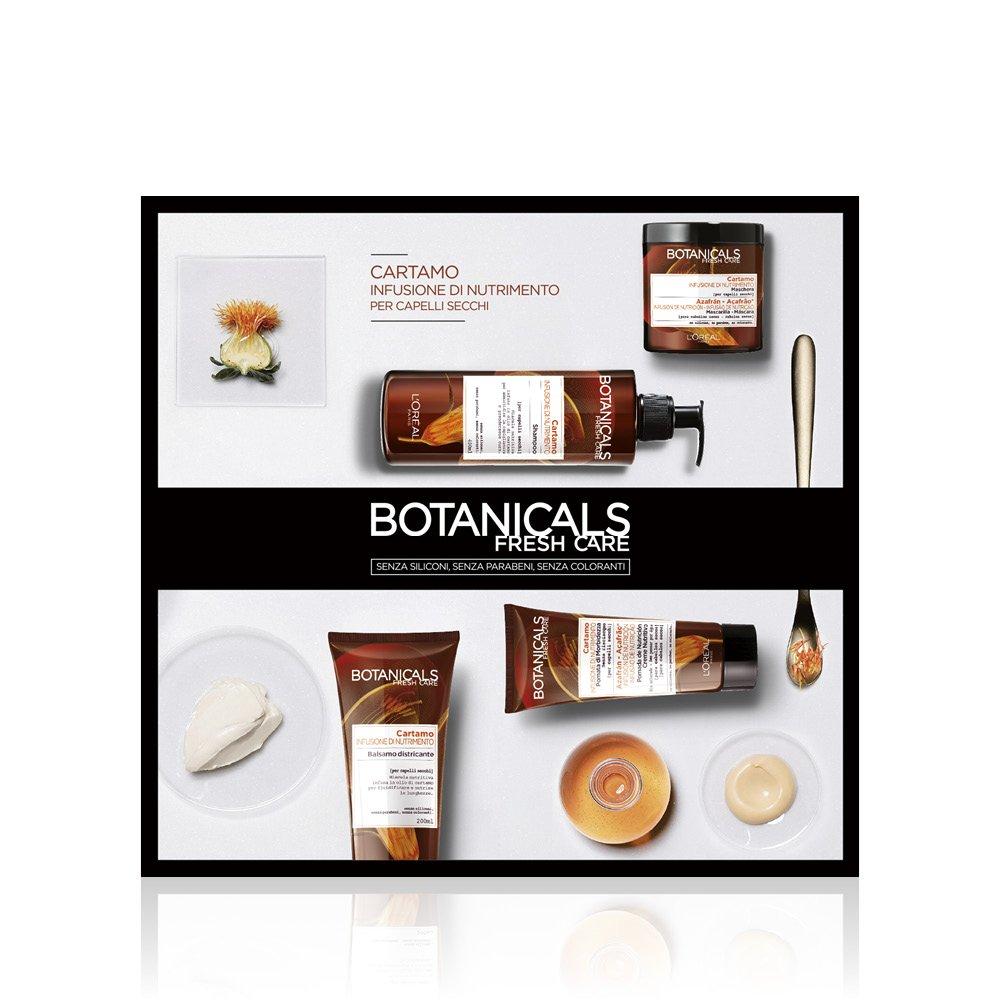 L'Oréal Paris Botanicals Cartamo Infusione di Nutrimento Shampoo per Capelli Secchi, 400 ml, Senza Siliconi, Senza Parabeni, Senza Coloranti L' Oréal Paris A9047400