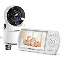 Campark Baby Monitor with Camera and Audio Pan Video Baby Monitor with Night Vision Wireless Infant Monitor