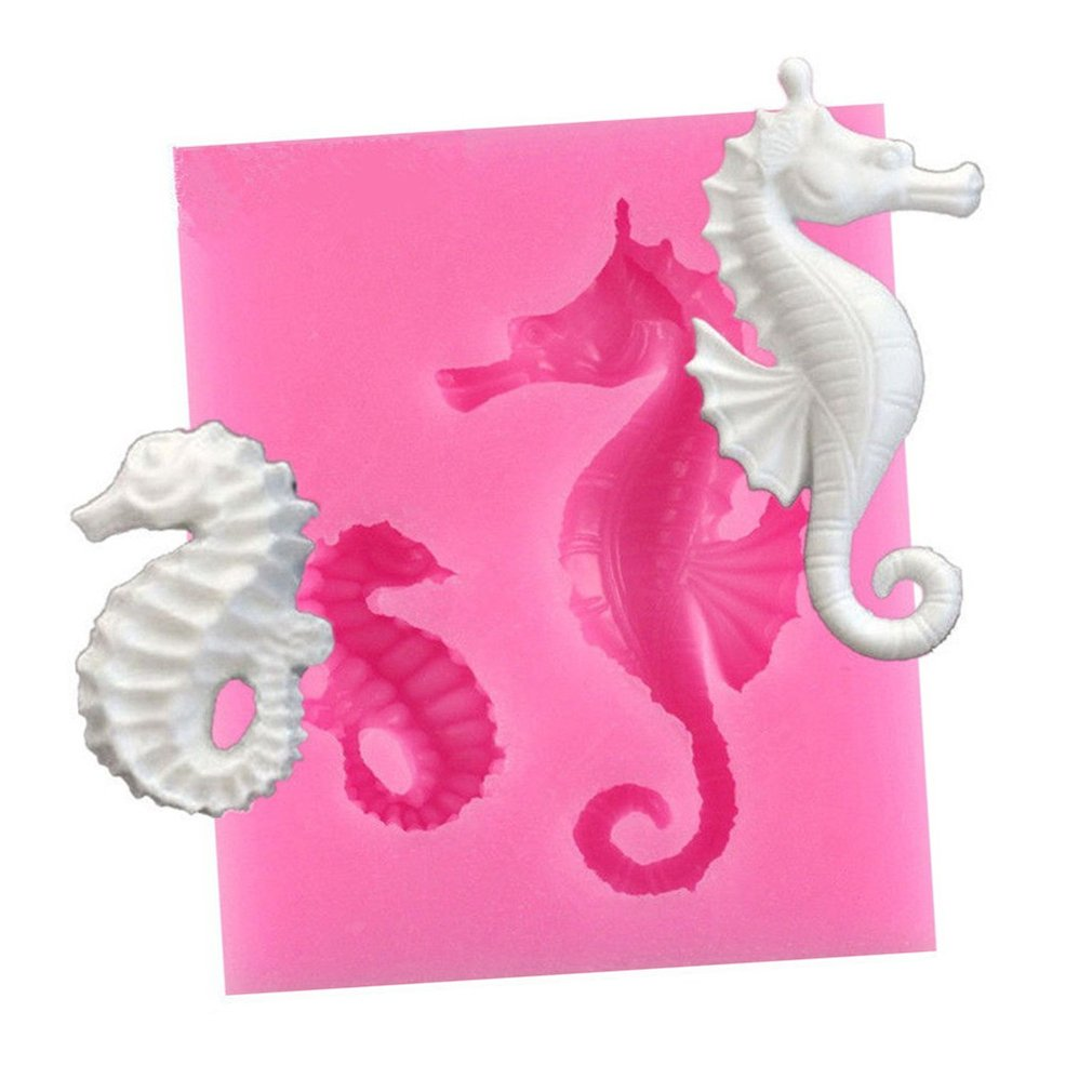 HENGSONG 3D Seahorse Silicone Fondant Chocolate Mould Cake Decor Icing Sugarcraft Mold Baking Tools mei_mei9
