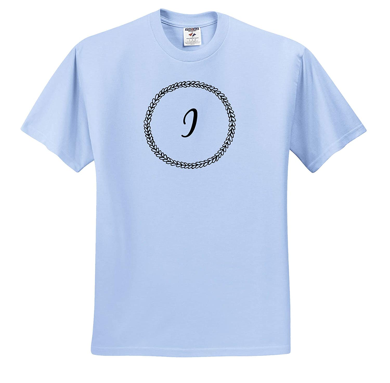 3dRose Merchant-Quote Image of Doodly I Monogram T-Shirts
