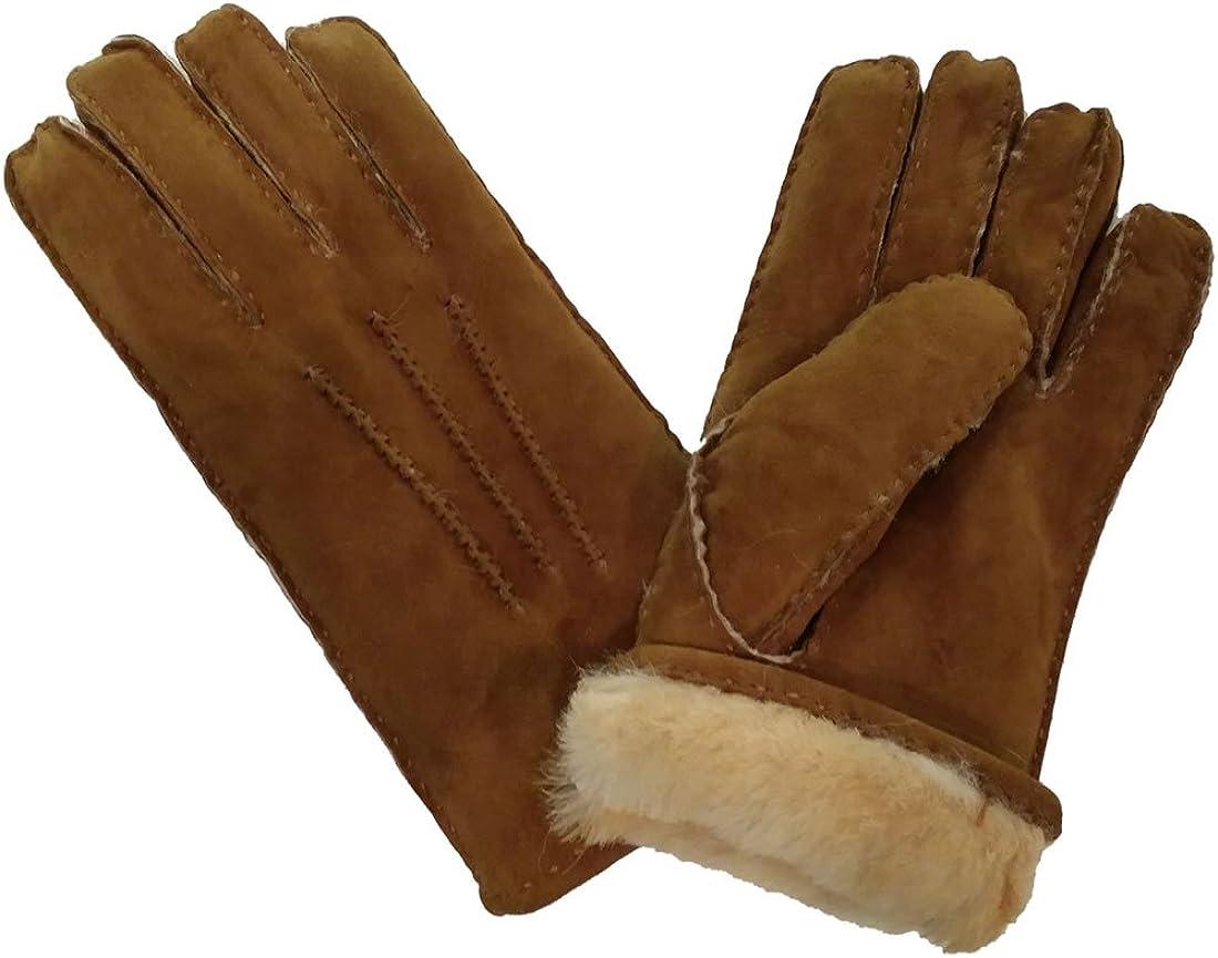 Ladies Tan 100/% Sheepskin Gloves