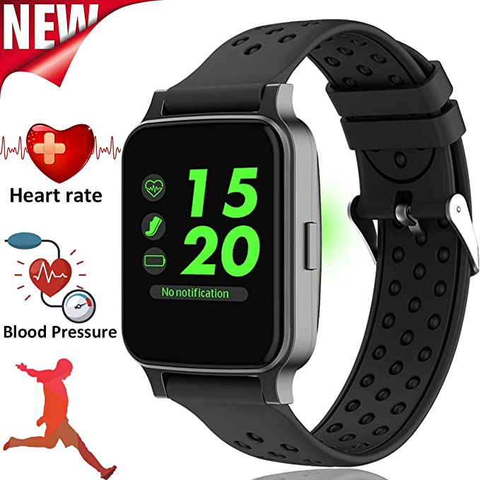 Amazon.com: Smart Watch Fitness Tracker with Heart Rate ...