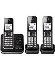 Panasonic KX-TGD323ALB Digital Cordless Phone, Black