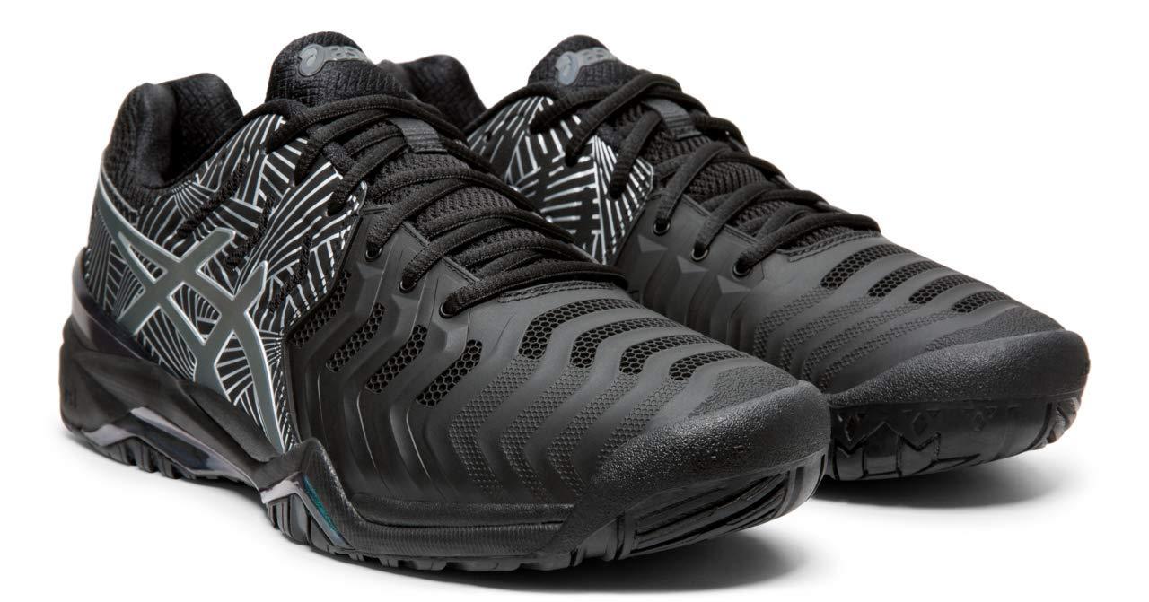 ASICS Gel-Resolution 7 Men's Tennis Shoe, Black/Silver, 10.5 M US by ASICS